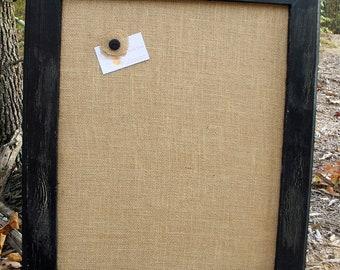"""22x26"""" Black Vintage Frame with burlap Cork Board"""