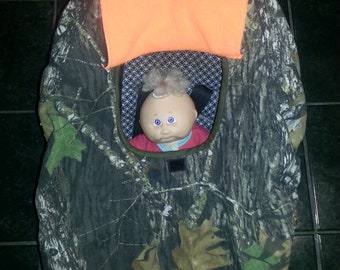 True Timber and Hunter Orange Camo RealTree Baby Carrier Cozy Cover Up 4 Infant Car Seat
