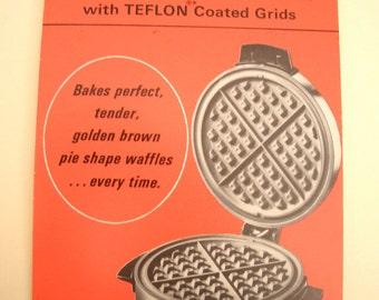 Toastmaster Waffle Baker Recipe Product Card Rare Beauty