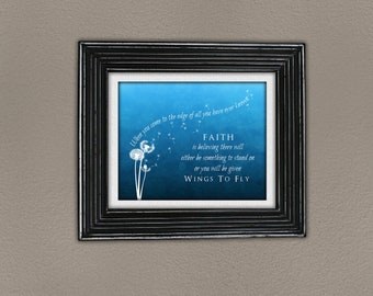 Wings to Fly faith dandelion DIGITAL art print