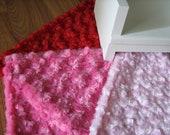 """American Girl sized / 18"""" doll Floor Rug - Rosette Fleece"""