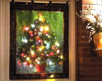 lighted christmas tree wall hanging - Wall Hanging Christmas Tree