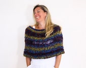 Knit capelet winter fashion, the Eudora Capelet, gift for her under 75