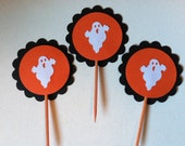 12 ghost cupcake toppers
