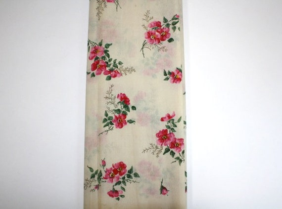 Vintage Ornamental Crepe Paper, Beautiful Pink Floral Bright Flowers, Unused from American Tissue Mills