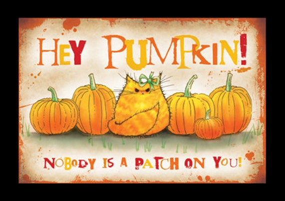 Hey Pumpkin Halloween greetings card