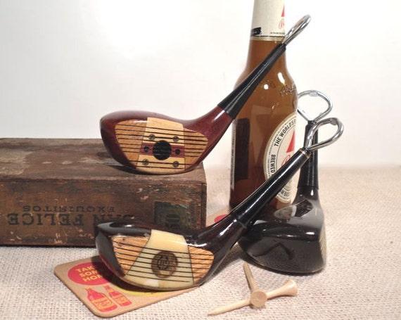 Vintage Golf Club Bottle Opener- Wood Driver Golf Gift Bottle Opener