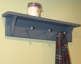 Country Shelf, blue rustic