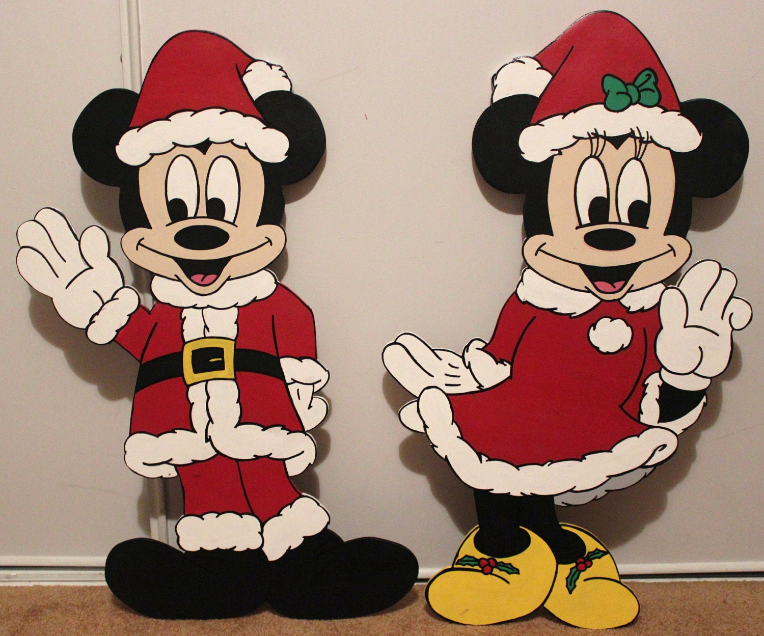 Christmas 24 disney minnie mouse and mickey mouse - Minnie mouse noel ...