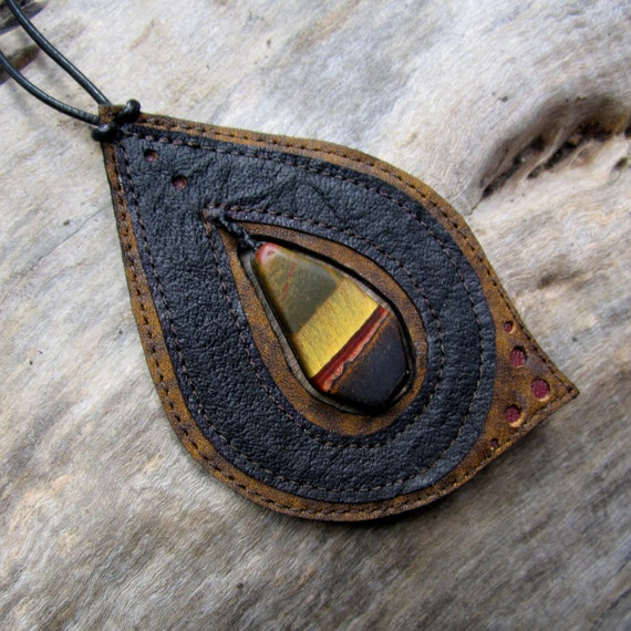 RESERVED For Miss Mary Tiger Iron Pendant Necklace earthy handmade OOAK creation by AriomDesigns