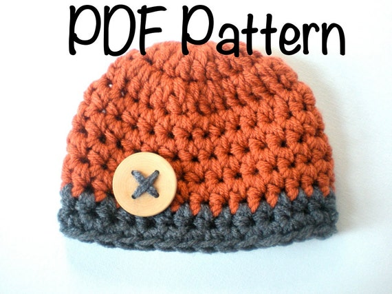PATTERN: Chunky Beanie easy crochet PDF InStAnT DoWnLoAd