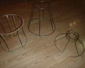 Metal Lamp Shade Frame Lot