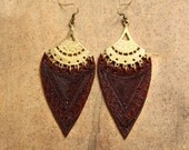 reserved for rimaa.............long Aztec Mayan Goddess Earrings