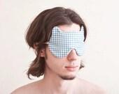 Bear Sleep Mask, gift for him, Blue eye mask