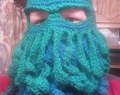 Cthulu Mask Crochet Hat