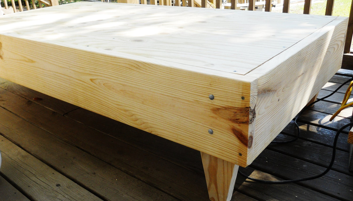 Custom Made platform bed Twin size by DavidnVicki on Etsy