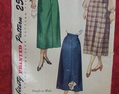 Simplicity Skirt Pattern, Vintage 50's Simplicity  2624