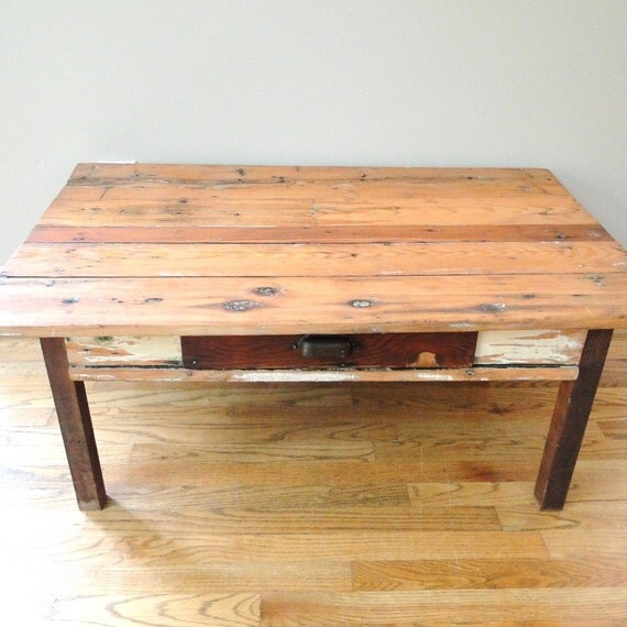 Vintage Pine Coffee Table Farmhouse Pine Table Primitive