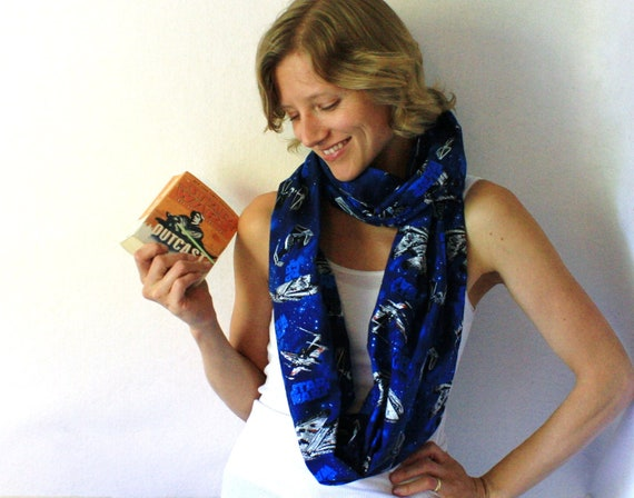 Star Wars Circle Scarf  - Space Scarf - Geeky Scarf - Infinity Scarf - Back To School - Winter Fashion