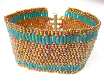 Old and New Copper colors bracelet