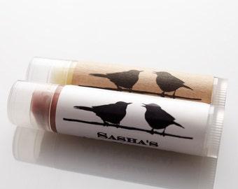 Custom Labeled Lip Balm (24 clear or black tubes)