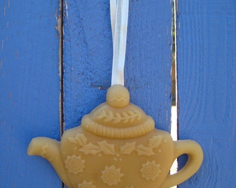 beeswax TEAPOT ornament