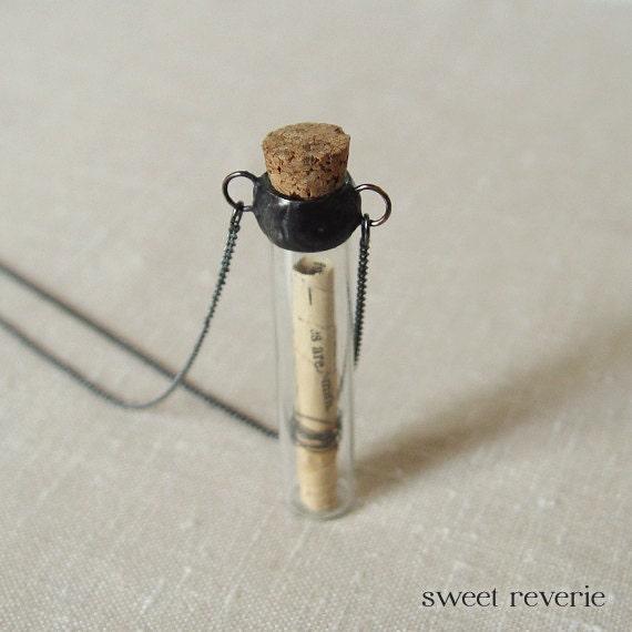 Gelöteten Glas-Fläschchen-Halskette DIY Miniatur von asweetreverie