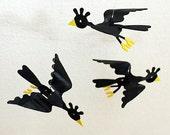 Vintage Vinyl Songbird Ornaments
