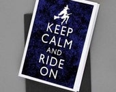 Keep Calm and Ride On Halloween Witch Print Card Tag Poster 5x7 Print DIY Printable jpg pdf Digital File Clip Art Instant Download DP01