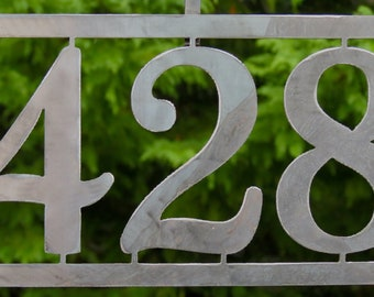 Modern House Numbers / Address Sign / Up to 5 characters/numbers