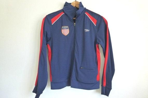 Vintage Sz M Speedo Track Jacket // Unisex Los Angeles Water Polo // CalforniaSeabreeze Shop on Etsy