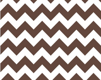 Medium Chevron Brown by Riley Blake Designs Half Yard Cut