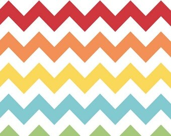 Medium Chevron Rainbow by Riley Blake Designs 1 yard cut