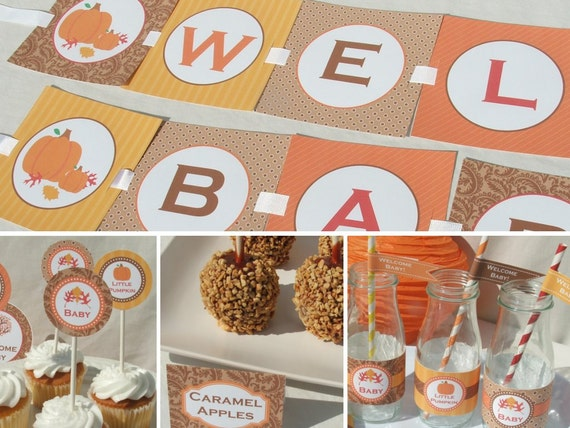 autumn baby shower decorations fall package by busychickadees
