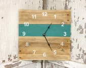 Reclaimed Pallet Wood Wall Clock (Your Color Choice)
