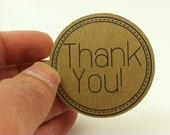 "Thank you stickers - 2"" inches - Customer Appreciation Stickers - Gratitude Stickers - Group of 50"