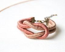 Knot Bracelet, Cotton Anniversary Gift