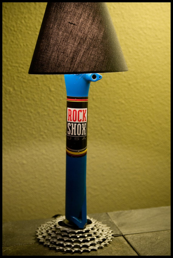 Desk Lamp Made From Recycled Bike Parts