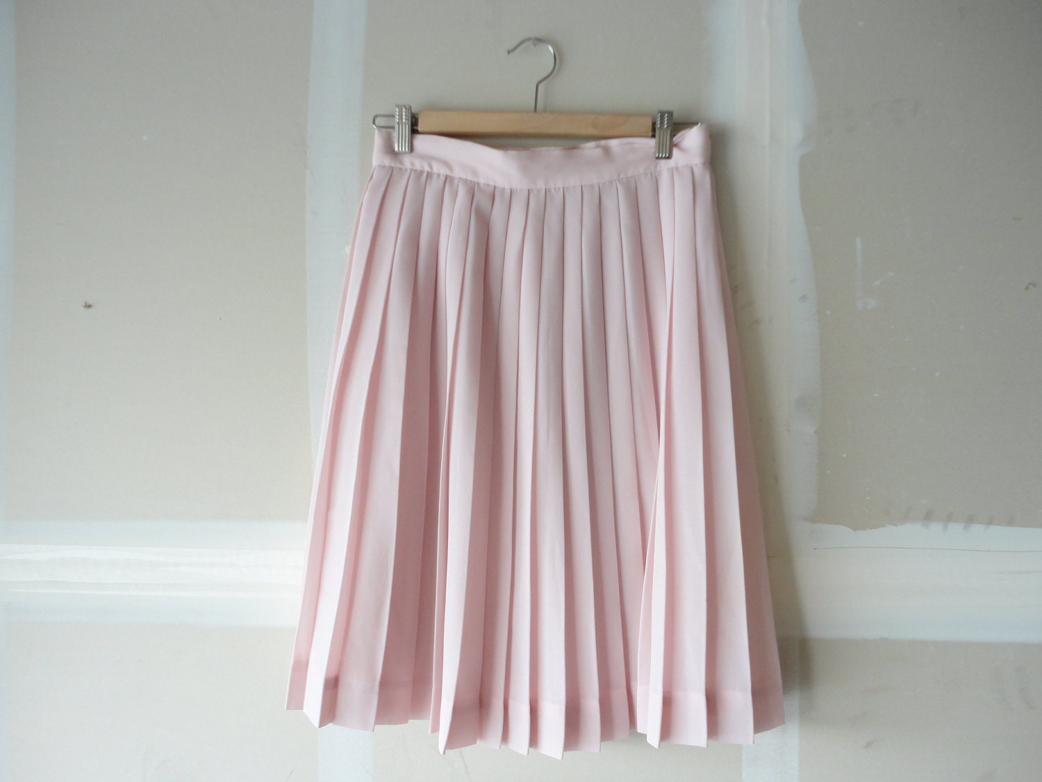 items similar to pink pleated skirt 90s skirt light