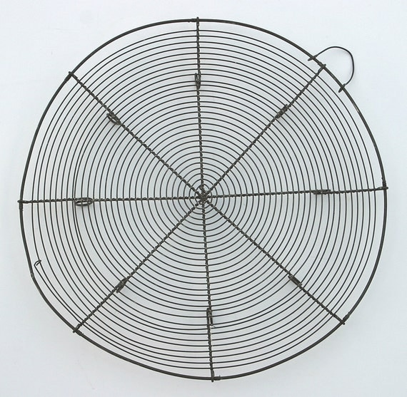 """Antique rare Huge 13"""" Patisserie FRENCH WIREWARE RACK Hand Crimped Pastry Cooling Rack Wire Base Beautiful props decor bakery rack"""