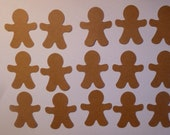 50 Gingerbread Men Die Cuts- Double Sided Card Stock- Paper Punches, Cupcake Toppers, Christmas Decorations