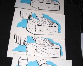Vintage Flip Cards....Primitive Animatiom....The Best Thing Since Sliced Bread......Stop Action Flip Cards