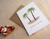 Tropical Christmas Cards / Personalized Christmas Card Set / Warm Wishes Holiday Cards