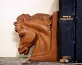 Vintage Ceramic Horse Bookend