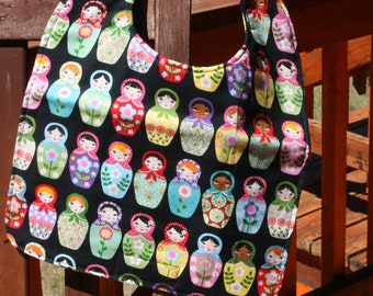 TODDLER Bib: Russian Wooden Stacking Dolls