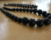 RESERVED  for Amy.  Black Beaded Necklace