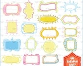 Buy 2 Get 2 Free ---- 17 Doodles Frames ---- Personal and Small Commercial Use ---- BB 0310