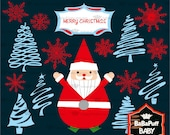 Christmas Tree and Santa Claus Set 2---- Personal and Small Commercial Use ---- BB 0288