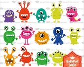 Buy 2 Get 2 Free ---- Monsters Set 1 ---- Personal and Small Commercial Use ---- BB 0292