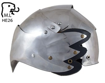 New Medieval style Elf helmet in stainless steel Armor Larp he26